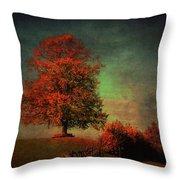Majestic Linden Berry Tree Throw Pillow
