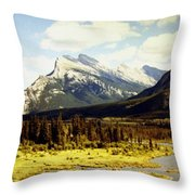 Majestic Mount Rundle Throw Pillow