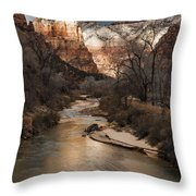 Majestic Mountains-zion Throw Pillow