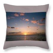 Majestic Ocean Sunset Throw Pillow
