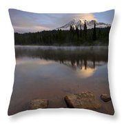 Majestic  Rainier Dawn Throw Pillow