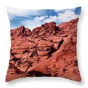 Majestic Red Rocks Throw Pillow