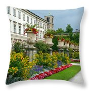 Majestic Salzburg Garden Throw Pillow