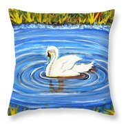 Majestic Swan Throw Pillow