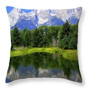 Majestic Tetons Throw Pillow