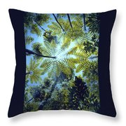 Majestic Treeferns Throw Pillow