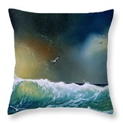 Majestic Wave Throw Pillow
