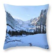 Majestic Winter Landscape Throw Pillow