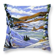 Majestic Winter  Throw Pillow