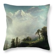 Majesty Of The Mountains Throw Pillow