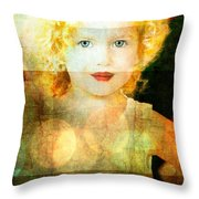 Golden Curls Throw Pillow