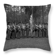 Major Dade's Men Throw Pillow
