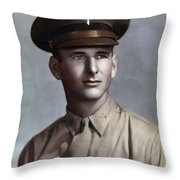 Major Tom T. Leask Throw Pillow