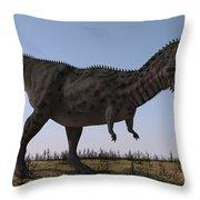 Majungasaurus In A Barren Environment Throw Pillow