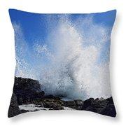 Makapu'u Lava Rock Splash Throw Pillow