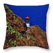 Makapu'u Lighthouse Throw Pillow