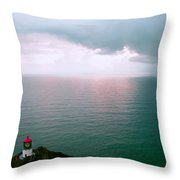 Makapuu Lighthouse Throw Pillow