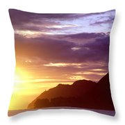 Makapuu Point Sunrise Throw Pillow