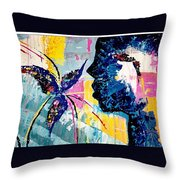 Make A Wish Abstract Art Figure Painting  Throw Pillow