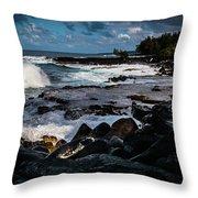 Makuu Cliffs Throw Pillow