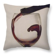 Make Mine A Red Wine Throw Pillow by Paul Horton