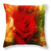 Make Mine Roses Please Too Throw Pillow