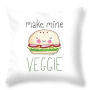 Make Mine Veggie Throw Pillow