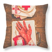 Make Your Own Frankenstein Medical Kit  Throw Pillow