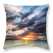Makena Beach Maui Hawaii Sunset Throw Pillow