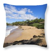 Makena, Changs Beach Throw Pillow