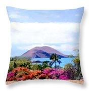 Makena Maui Throw Pillow