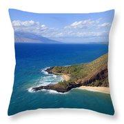 Makena, Maui Throw Pillow