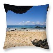 Makena View From Secret Beach Throw Pillow