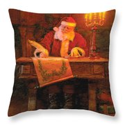Making A List Throw Pillow by Greg Olsen