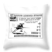 Making America Strong Cartoon Throw Pillow
