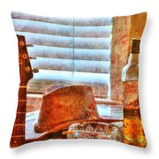 Making Music 002 Throw Pillow by Barry Jones