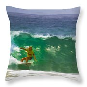 Making The Half Pipe Throw Pillow