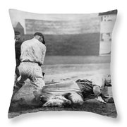 Making The Play C. 1920 Throw Pillow