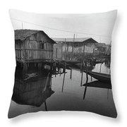 Houses On Stilts Throw Pillow
