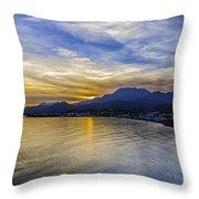 Makrygialos Sunset Throw Pillow