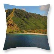 Makua, Oahu Throw Pillow