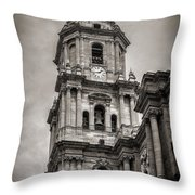 Malaga Cathedral Throw Pillow