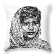 Malala Yousafzai Throw Pillow