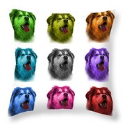 Malamute Dog Art - 6536 - Wb - M Throw Pillow