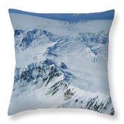 Malaspina Glacier Throw Pillow