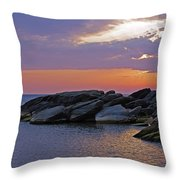 Malawi Sunrise Throw Pillow