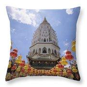 Malaysian Temple Throw Pillow