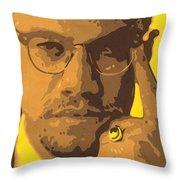 Malcolm El Afroxicano Throw Pillow