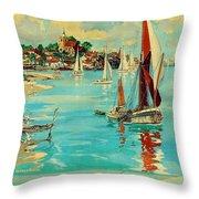 Maldon, England, Sailing Boats Throw Pillow