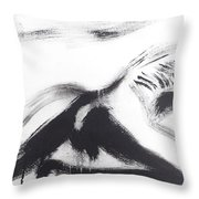 Male Back Throw Pillow